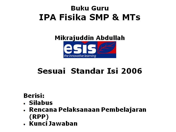 Silabus dan RPP SMP (Mikrajuddin Abdullah, Esis)